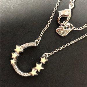 Authentic Swarovski horseshoe ivory stars necklace